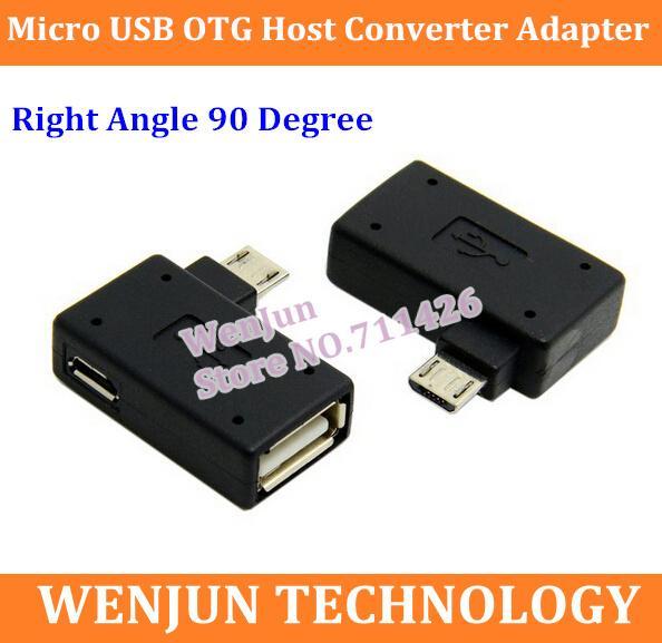 50 PZ Angolo Retto 90 Gradi 5 Pin Micro B Maschio a A Femmina + Micro USB Femmina Alimentazione Plug Dati OTG Convertitore Host Adattatore ordine $ 18no t