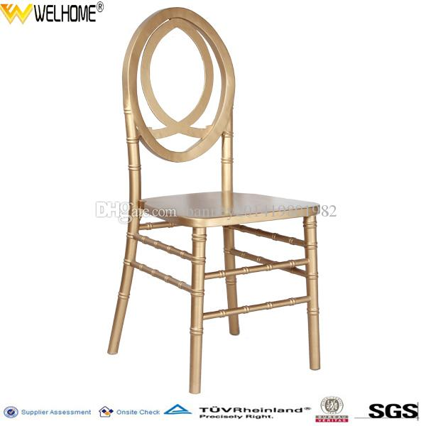 gold wooden phoenix chair for wedding