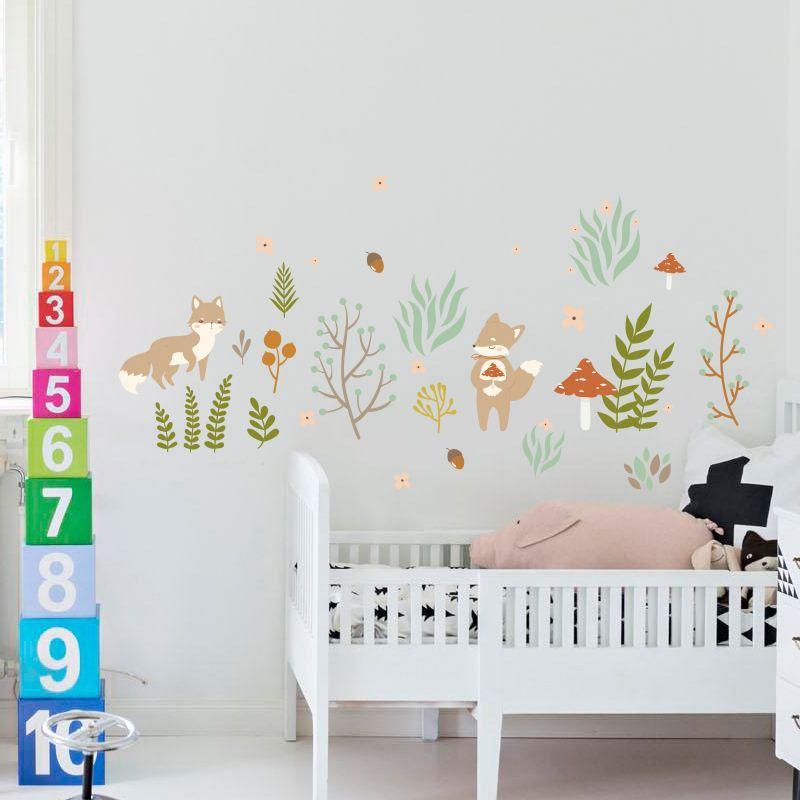 Etiqueta engomada de la etiqueta engomada de la pared del bosque de hadas Home / Store Decor DIY Arte desmontable del vinilo mural para la habitación de los niños / jardín de infantes / Sala de estar QTM293