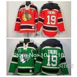 2016 Yeni, - Chicago Blackhawks 19 Jonathan Canavarlar Red C Yama buz Hokey Jonathan Toews Tişörtü Jersey Yeşil CCM