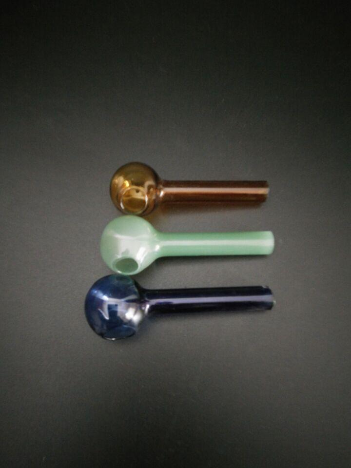 6 см стекло прозрачное стекло масляной горелки стеклянная трубка бонг трубы масло ногтей