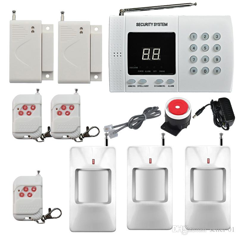 Système d'alarme de sécurité de la sécurité infrarouge HOME sans fil PIR Mouvement Système d'alarme automatique Composition automatique de la fenêtre 2x Fenêtre / Porte Capteur d'alarme Easy DIY