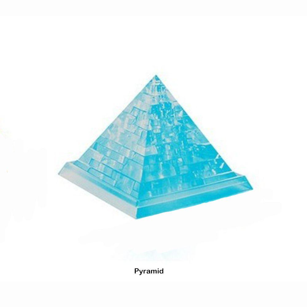3D Boyutlu Bulmaca Kristal Modelleri Plastik İnşaat Yapı Piramit Çocuk Eğitici Oyuncak