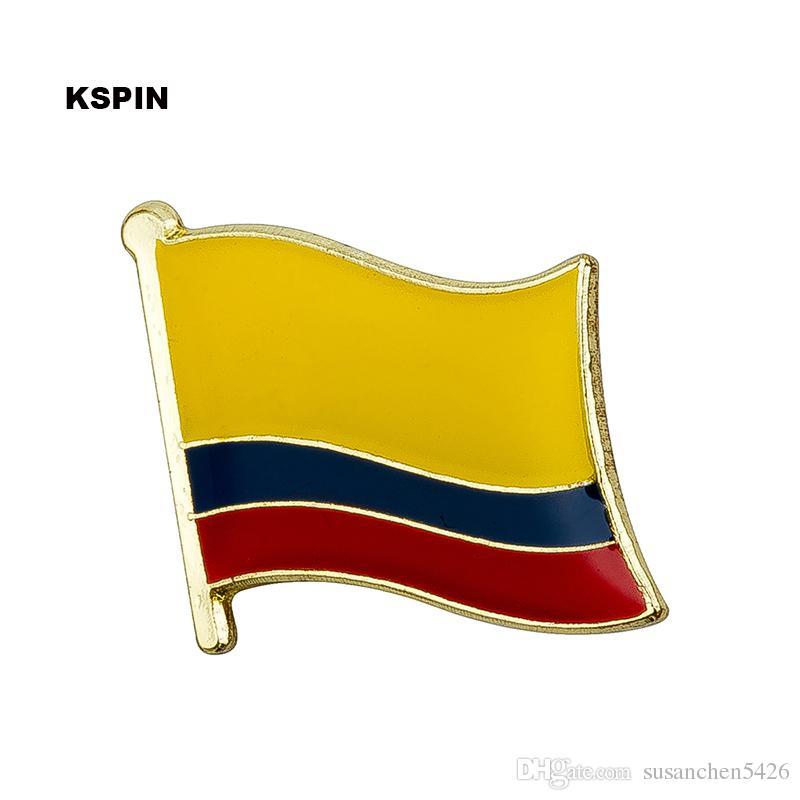 Spedizione gratuita Colombia Metal Badge Badge Flag Pin KS-0066