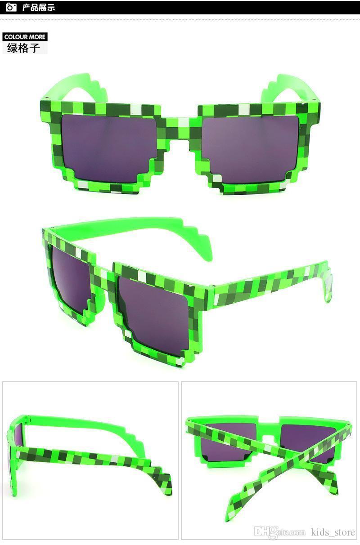 1181e83215 Lunettes de soleil de bande dessinée pour la mode Femmes Hommes Vert et  Bleu Lunettes de ...