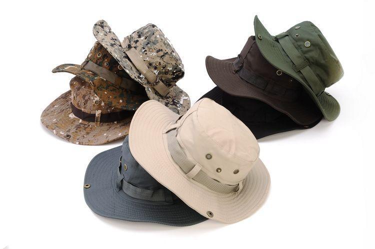 1 قطعة / الوحدة الكلاسيكية الجيش الأمريكي غي نمط boonie الغابة قبعة ripstop القطن مكافحة بوش قبعة الشمس