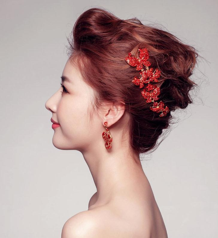 Fashion New Red 2015 Bridal Accessories Hair Accessories Wedding Dress Swarovski Crystalsbrilliant Glamorous Luxury Bridal Gown Rhinestone Headpieces