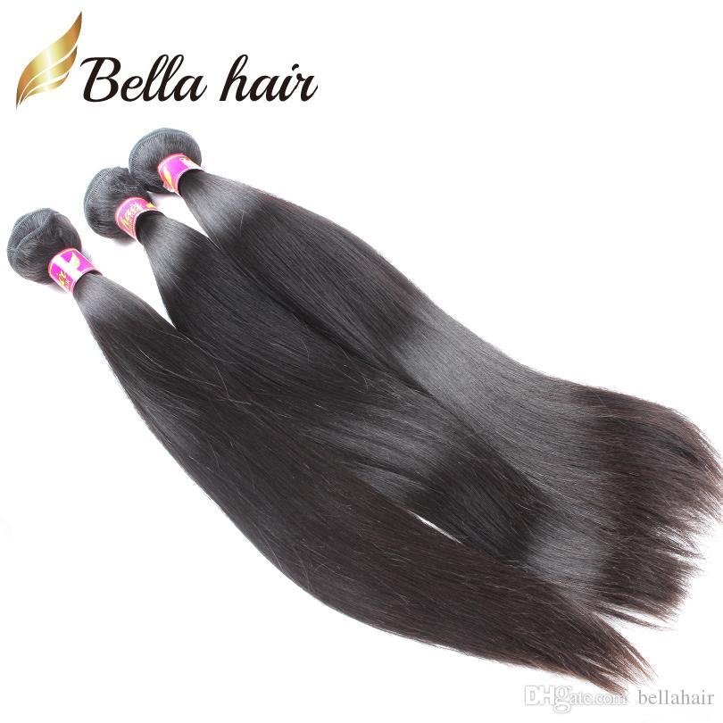 البرازيلي الإسراء الشعر بيرو الهندي الماليزي الأوروبي الكمبودية مستقيم النسيج الإنسان لحمة الشعر الملحقات 3 قطع حزم بيلا الشعر