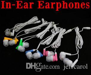 New colors In-Ear Earbuds earphone Headphone 3.5mm Earbud Earphone For MP3 Mp4 iphone4 iphone5/5S 3.5mm Audio,1000pcs Free DHL/Fedex