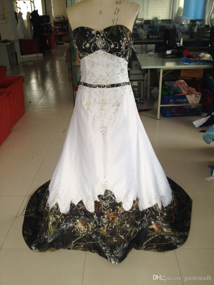 2015 cheap camo wedding dress real picture sweetheart embroidery 2015 cheap camo wedding dress real picture sweetheart embroidery with beading empire a line chapel train ombrellifo Images