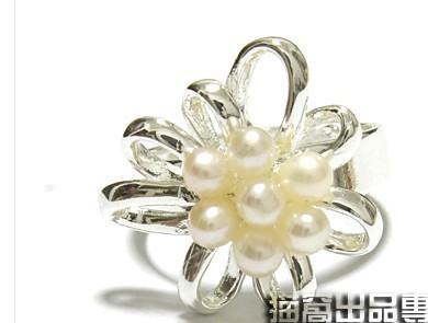 золото*серебряный узел Перл леди кольца allpearl flwoer Женские кольца все размеры (xysppfh )