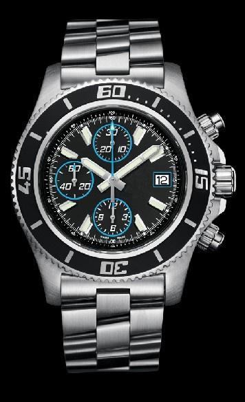 최고의 판매 높은 품질의 시계 남성 시계 남성 석영 스톱워치 남자 크로노 그래프 스테인레스 스틸 팔찌 (29) 시계