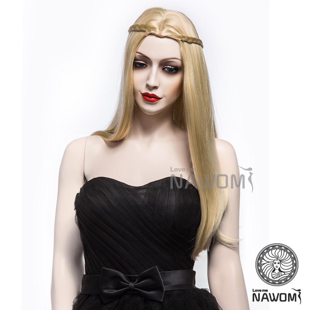 Fashion Dreadlocks Braided Golden Straight Wigs Female Long Hair
