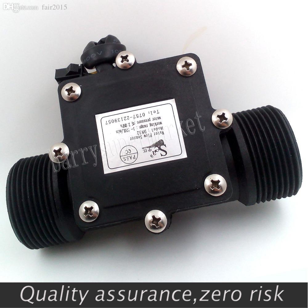"Wholesale-G1-1/4"" 1.25 Water Flow Hall Sensor Switch Meter DN32 Flowmeter Counter 1-120L/min"