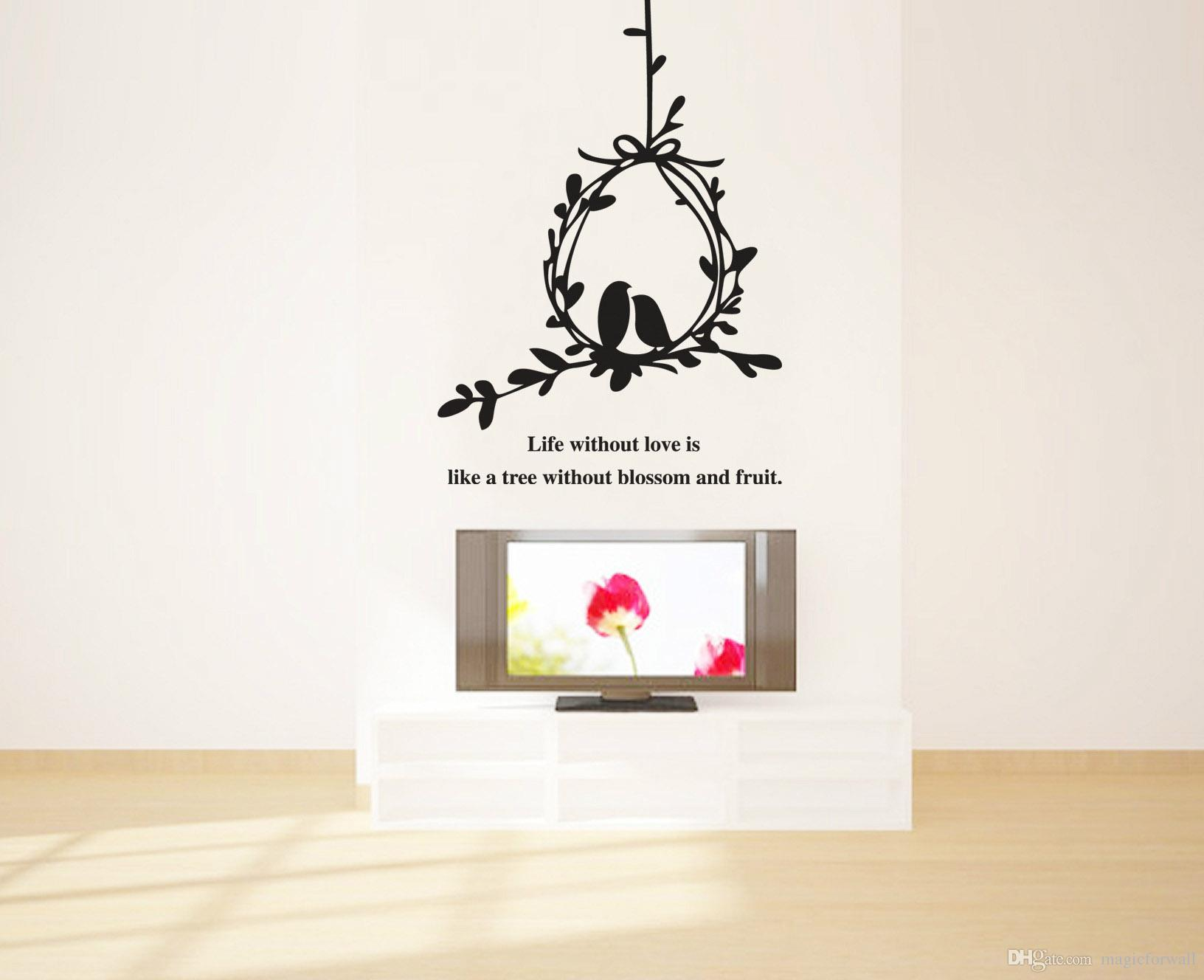 Birdcage wall art stickers wall murals ideas tree vines birdcage wall art mural decal sticker wall quote amipublicfo Image collections