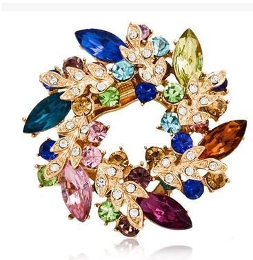 больше цветов Алмаз цветок груди брошь ювелирные изделия (xysppfh)