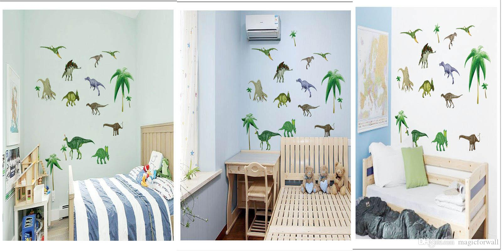 Acheter Animaux De Bande Dessinée Wall Art Decal Sticker Pour Bébé Enfants  Chambre Pépinière Décoration Dinosaure Cheval Fée Papillon Heureux Enfance