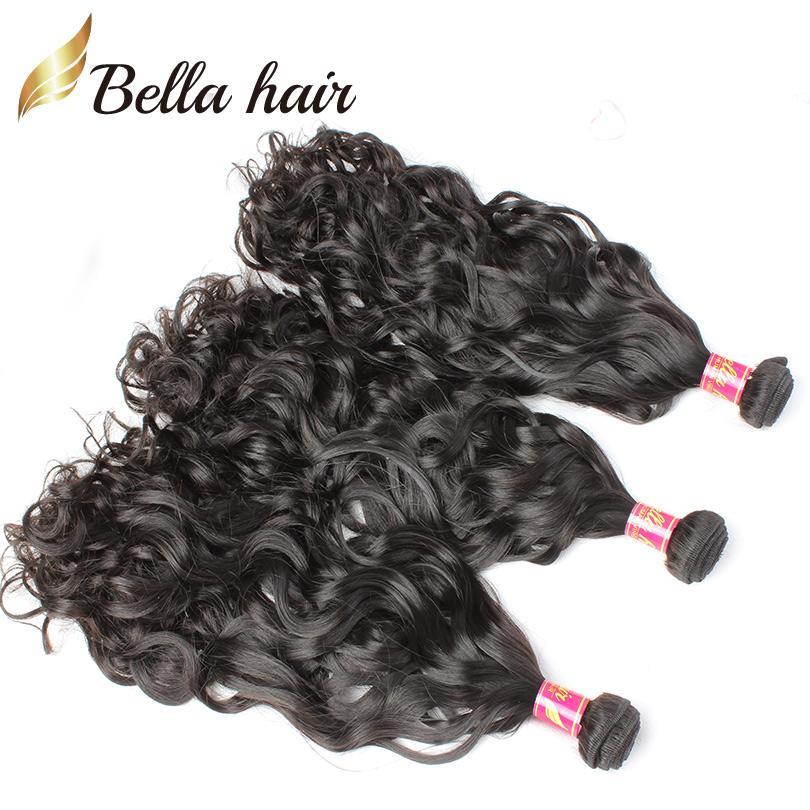 "8""-30"" Hair Bundles Brazilian Virgin Human Hair Weaves Extensions Natural Wave 3pcs Weft Top Quality Double Weft Bella Hair"