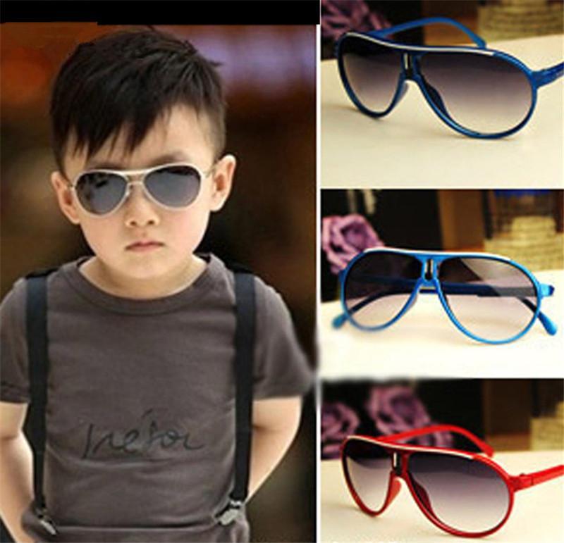 Çocuk Güneş Gözlüğü Yaz SunBlock Plaj Gözlük Çocuklar Için Plastik Çerçeve UV 400 Koruma Güneş Gözlükleri Rahat Seyahat 12 Adet / grup