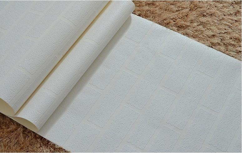 3D-Design Tapete PVC-Tapete rollen weiße Tapete moderne Vinyl Tapete Ziegel für Wohnzimmer Schlafzimmer TV Hintergrund Wand