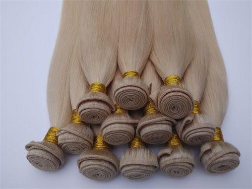 613# Blonde Color Brazilian Virgin Hair Original Human Peruvian Hair weft Grade 7A unprocessed wholesale Indian remy Hair Extensions DHgate