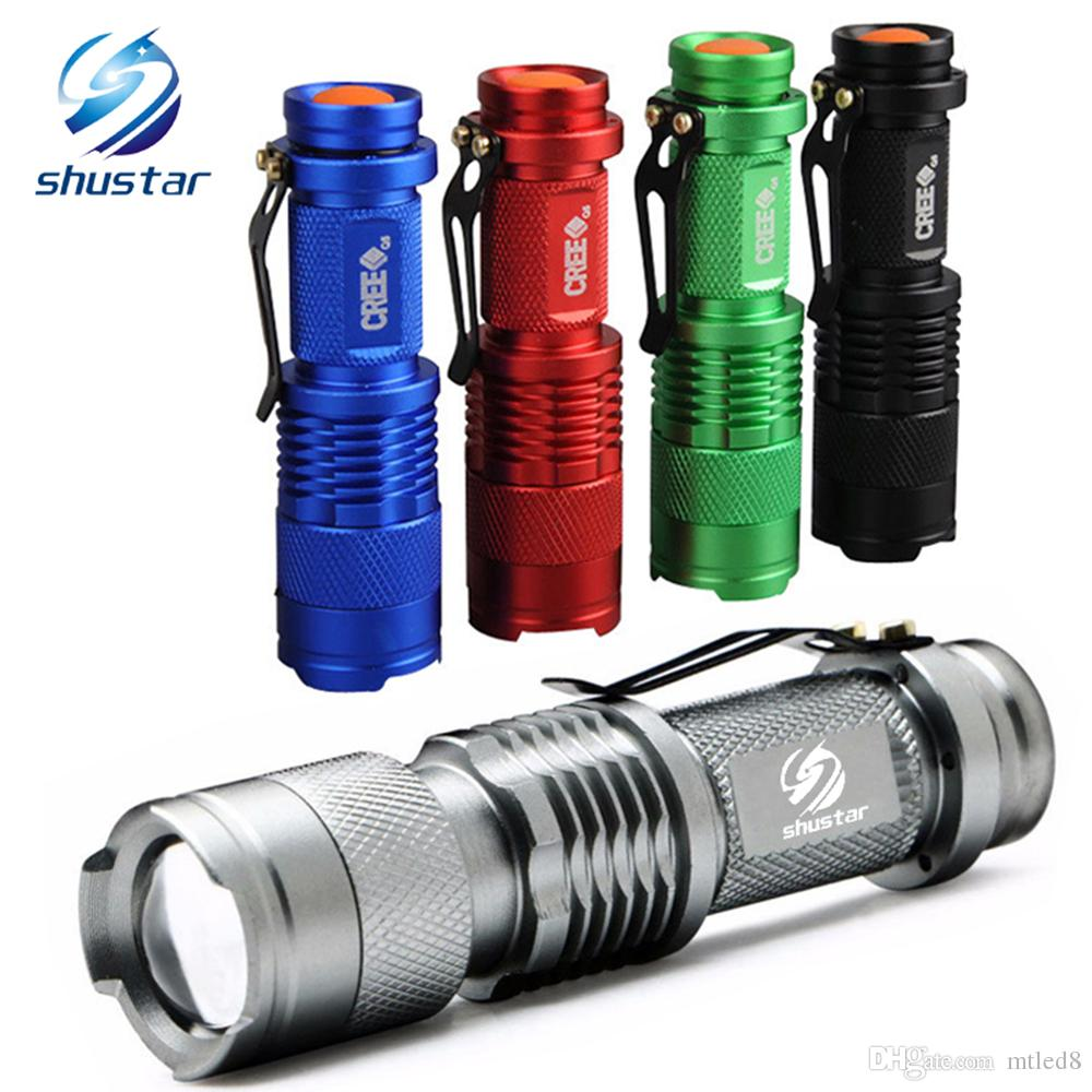 Colourful Waterproof LED Flashlight High Power 2000LM Mini Spot Lamp 3 Models Zoomable Camping Equipment Torch Flash Light