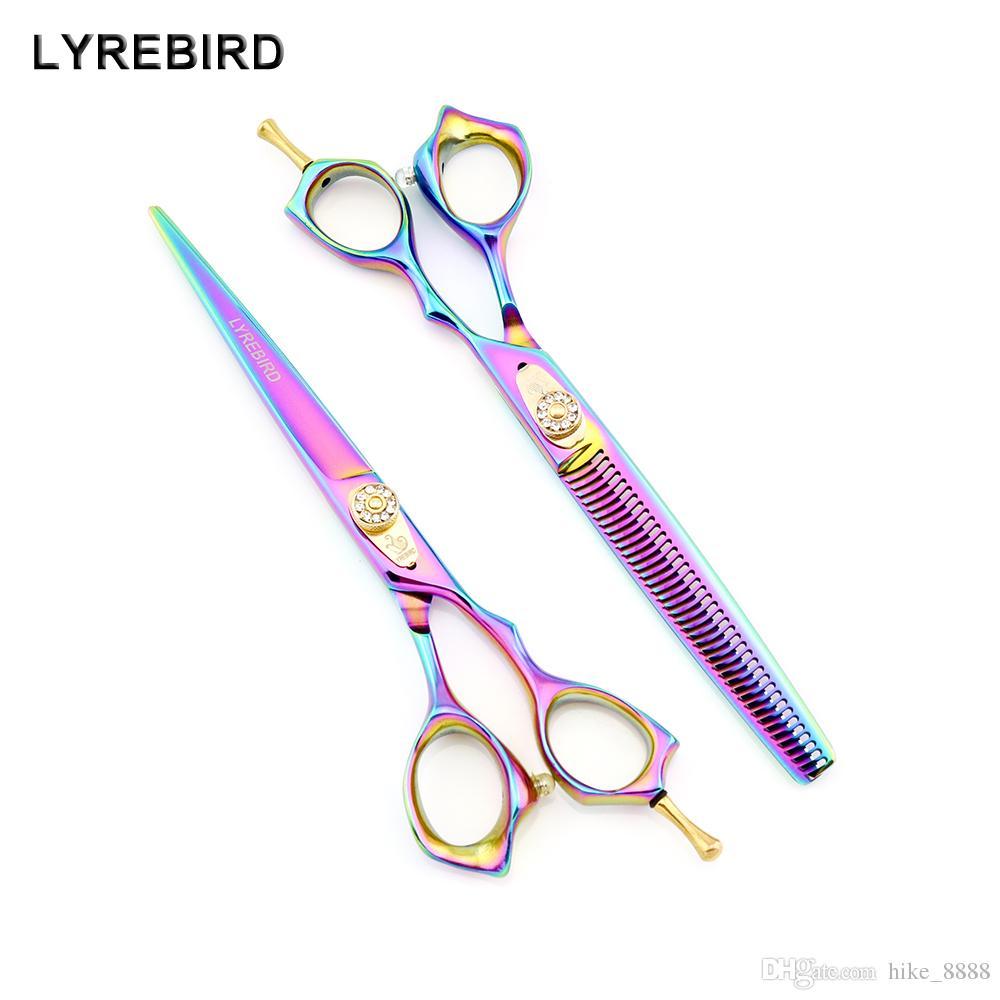 Lyrebird High Classe Ciseaux Ciseaux Chien Toilettage Ciseaux 7 pouces Rainbow Cisailles de cheveux Ciseaux Ciseaux Simple Emballage Nouveau
