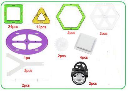 무료 배송 버라이어티 어린이 빌딩 블록 마그네틱 시트 마그네틱 지혜 매직 조각 55pcs 버킷으로 포장