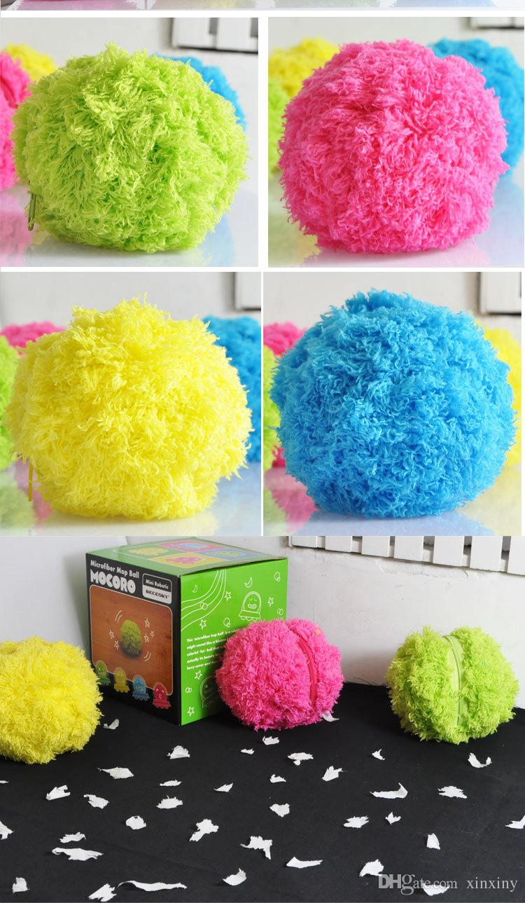 Mocoro Toz Catcher Otomatik Hairball Aspiratör Mikrofiber Paspas Topu Vacuums Temizleyici Sevimli Mini Renkli Vakum Sweeper Taşıması Kolay