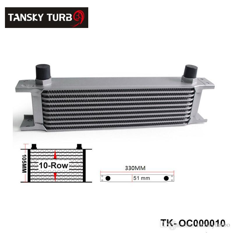 Tansky - Britischer Typ 10-reihiger Motorölkühler / An8 für Universal ohne Logo auf Lager TK-OC000010