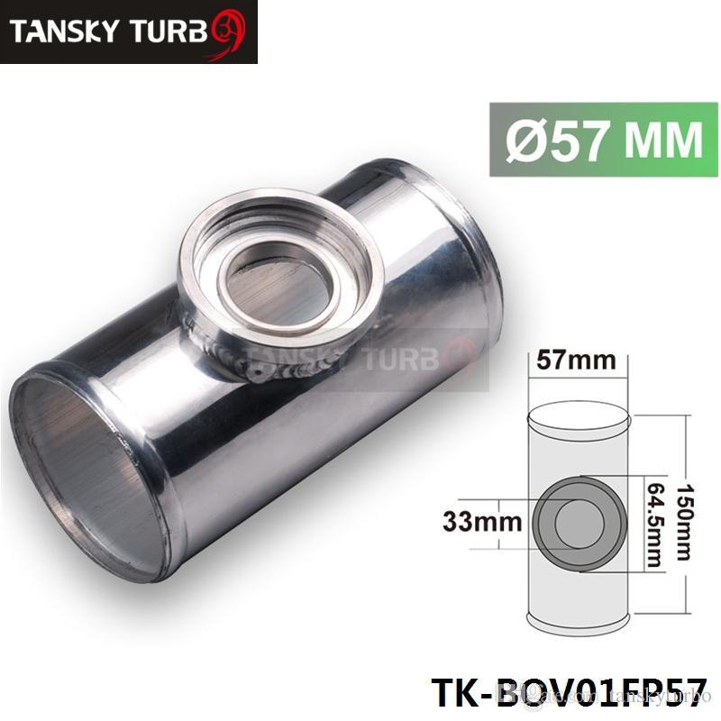 """عالية الجودة 57MM 2.25 """"TURBO الألومنيوم FLANGE PIPE لHKS SSQV / SQV BOV D16 TK-BOV01FP57"""