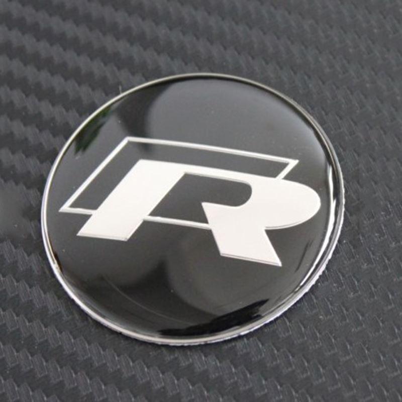 45mm R Logo Car Steering Wheel Badge Sticker Decals logo emblem For Volkswagen VW R Series R36 R400 R32 R20 R50 Golf Passat