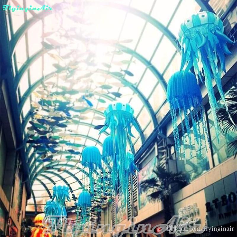 파티를위한 3m 조명 늘어 뜨린 해파리 블루 풍선 해파리 / 이벤트