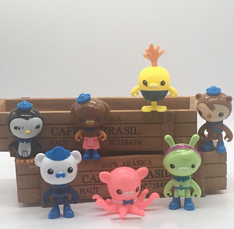 40 pz (5 set) The Octonauts Barnacles figurine in miniatura fata ornamenti da giardino bonsai decoracion jardin casa delle bambole giocattoli auto
