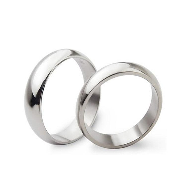 여성을위한 폭 4mm 스테인레스 스틸 밴드 링 남자 애호가 부부 패션 사랑 결혼식 파티 쥬얼리