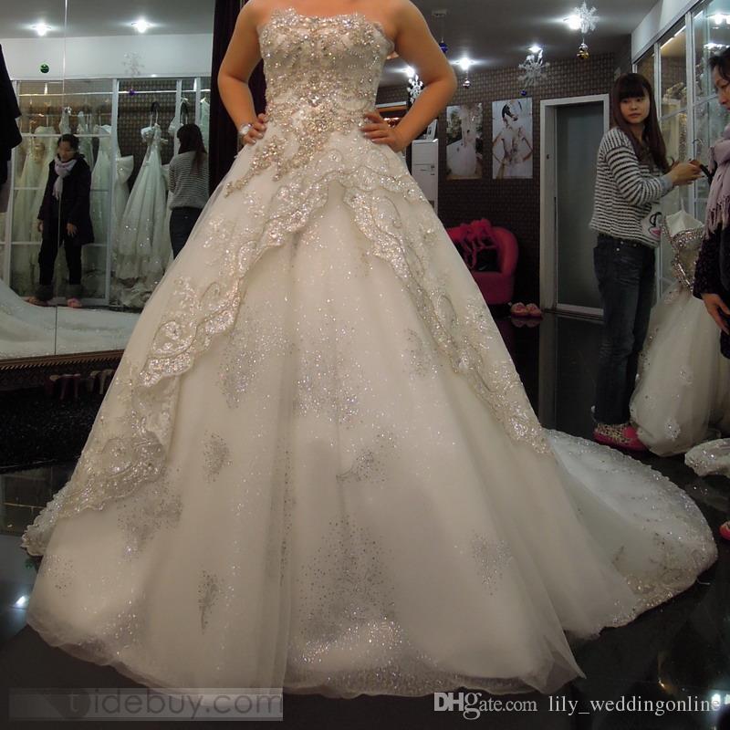 Großhandel Arabisch Elie Saab Luxus Brautkleider Custome Made Bling ...