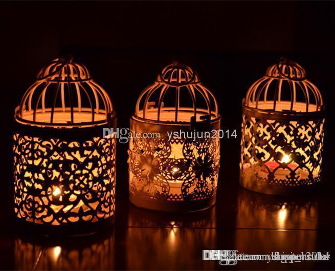 Романтическая свадьба выступает Железный фонарь подсвечник для свадьбы выступает украшения Бесплатная доставка