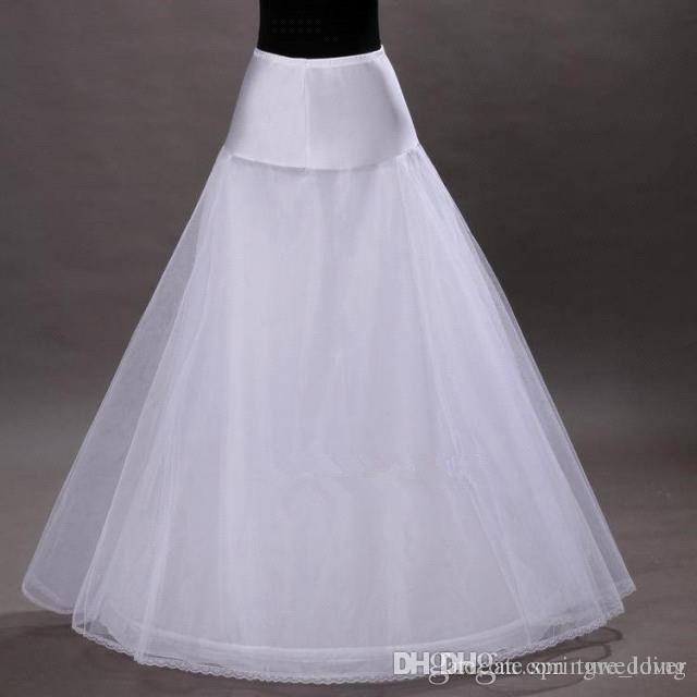 Frete grátis em estoque 1-hoop 2-layer tule Aline anágua nupcial do casamento Petticoat Underskirt Crinolines para vestido de noiva