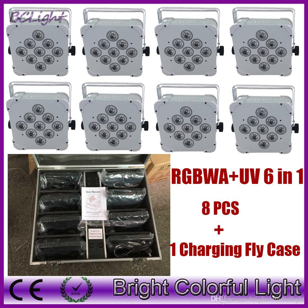 8X Lot charging road case High quality battery wireless dmx led par can for wedding DJ KTV Party Event decor led Uplight