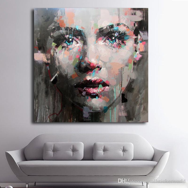 1 Pcs Menina colorida impressão pintura a óleo da parede art Pictures para sala de estar Poster E Prints Modern Sem Framed