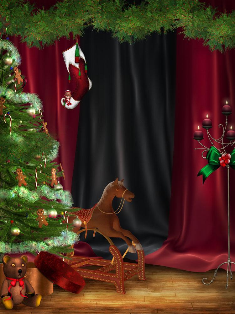 5x7ft Noel Fotoğrafçılık Arkaplan Vinil Özel Dijital Fotoğrafçılık Arka planında SD-686