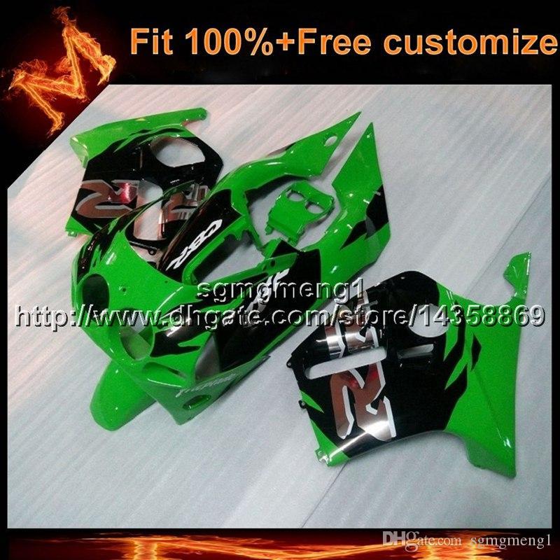 23colors + 8Gifts molde de injeção de ABS verde motocicleta painéis para Honda CBR250RR MC19 1988-1989 MC19 88 89 ABS Carenagem De Plástico