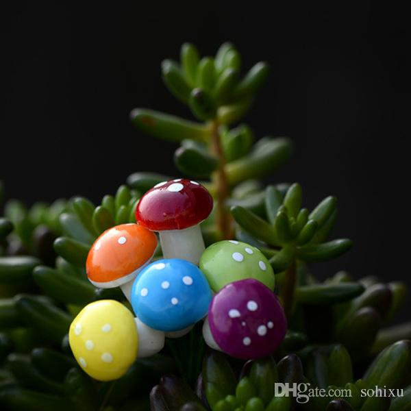 DIY небольшой сказочный сад пены Гриб миниатюры террариум украшения смолы ремесла бонсай Jardin микро пейзаж завод горшок