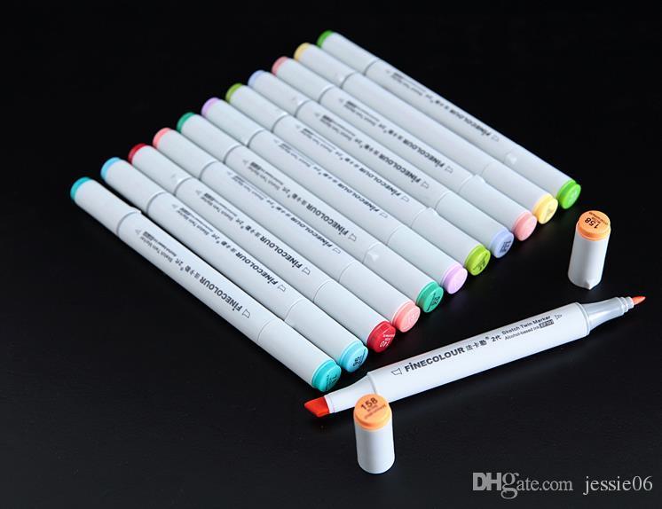 The second generation finecolour marker pens FINECOLOUR pen Sketch Hand-painted art painting pens 160colors for chose with gift bag pen bags