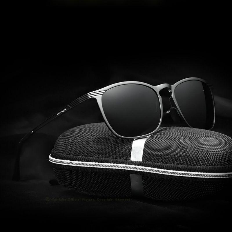 VEITHDIA Unisex 레트로 알루미늄 마그네슘 브랜드 선글라스 편광 렌즈 안경 운전 안경 썬글라스 남성 / 여성 6630