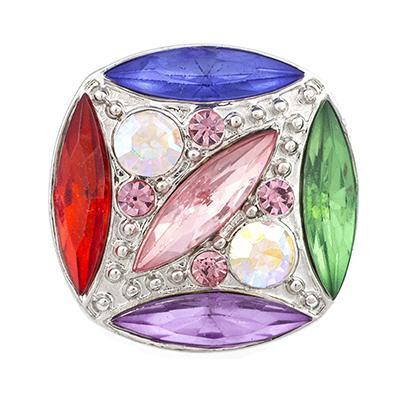 NSB2075 Sıcak Satış Kristal Yapış Düğmeler Takı 18mm Düğmeler Moda DIY Takılar Parlak Renkler Snaps