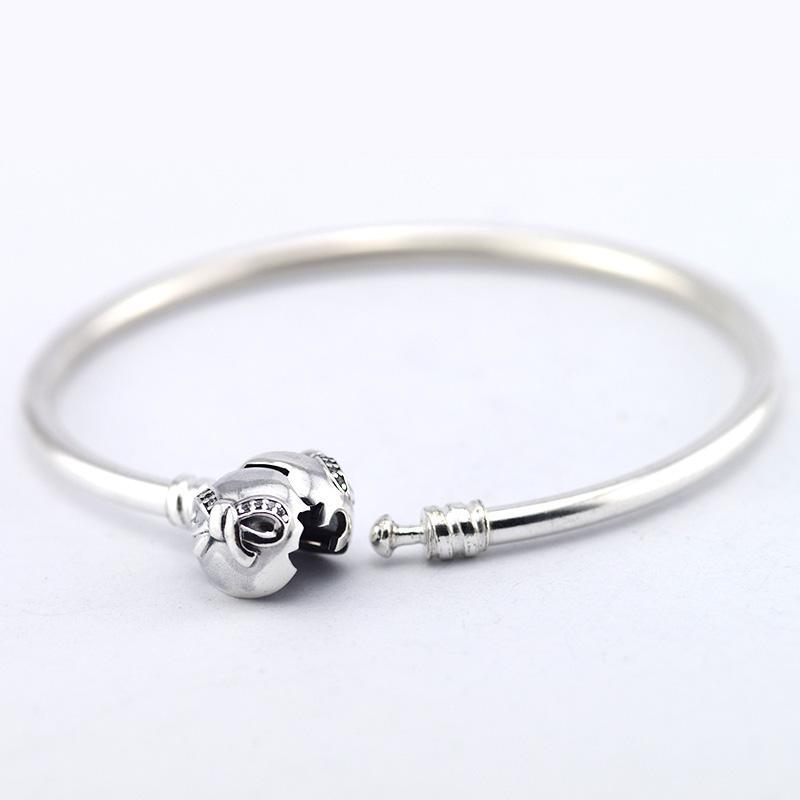 Gecertificeerd 100% 925 Sterling Zilveren Armbanden Mode Armband Compatibel met Pandora Sieraden Clear met CZ voor Vrouwen Gratis verzending
