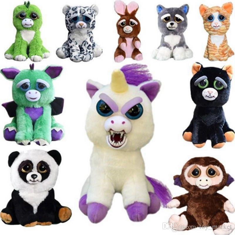Feisty Pets Unicorn Glenda Panda Teddy Glitterpoop Plush Toy Stuffed Animal Gift
