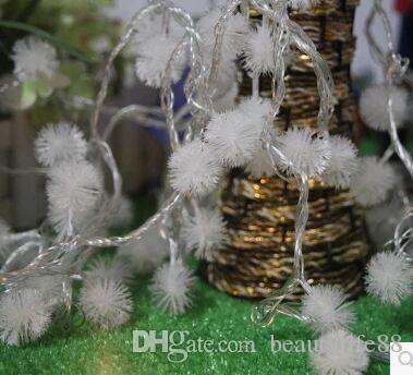10 m 80LED tüylü topu ışıkları tatil ışıkları Noel ağacı dekorasyon parti dize ışıkları su geçirmez ışıkları bar ışıkları