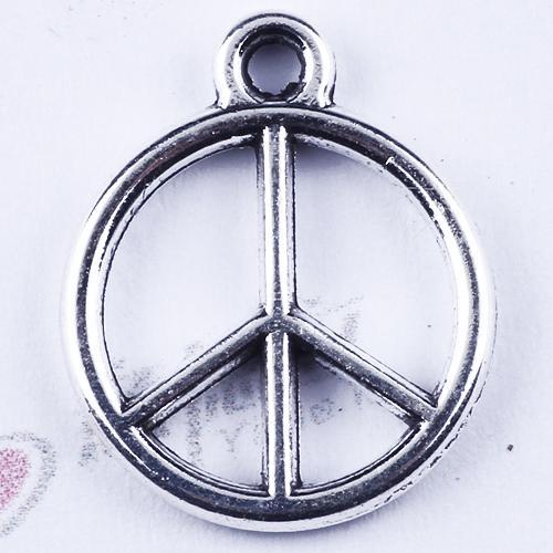 Classical Retro Arbore round Standard single hanging Peace charm silver/copper DIY jewelry pendant fit Necklace or Bracelets1500 pcs/lot 285